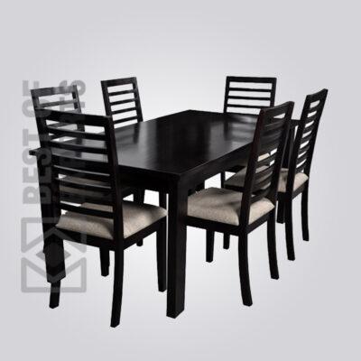 Black Wooden Dining Set
