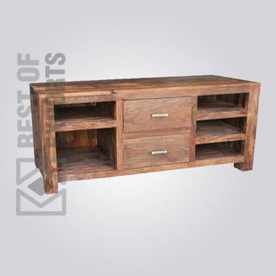 Solid Wood Media Stand