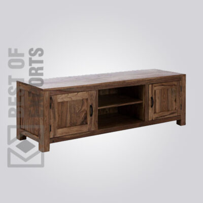 Solid Wood Media Console - 4