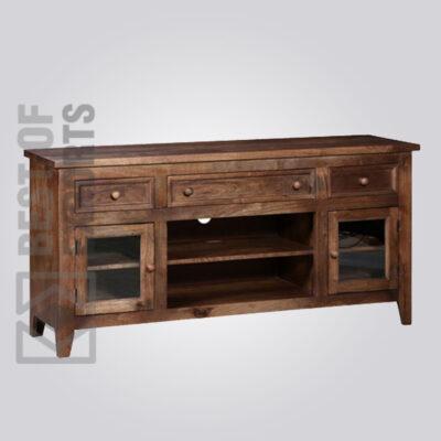 Solid Wood Media Cabinet