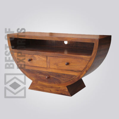 Solid Wood Media Console - 5