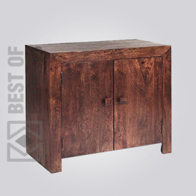 Solid Wooden Sheesham Sideboard with two doors