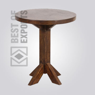Solid Wooden Round Stool - 2