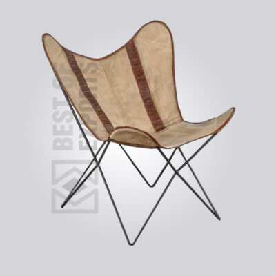 Butterfly Leather Canvas Lounge Chair