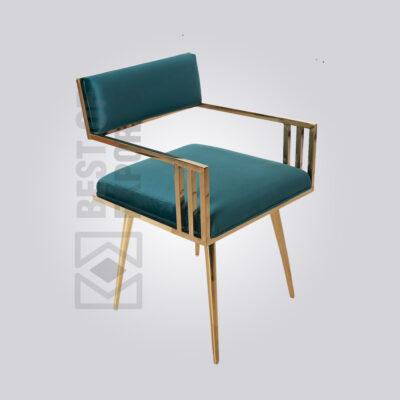 Designer Metal Upholstery Restaurant Chair