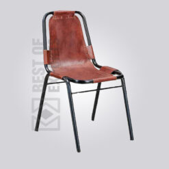 Industrial Leather Dining Strap Chair