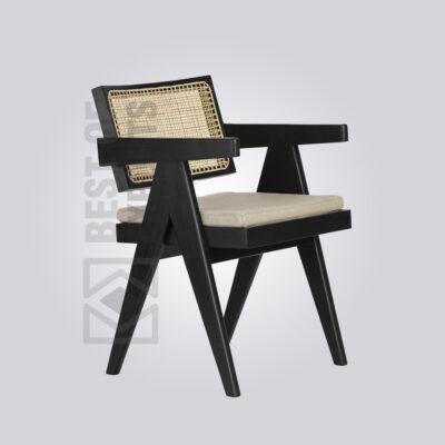Black Cane Armchair