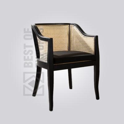 Black Cane Back Armchair