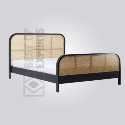 Black Cane Bed