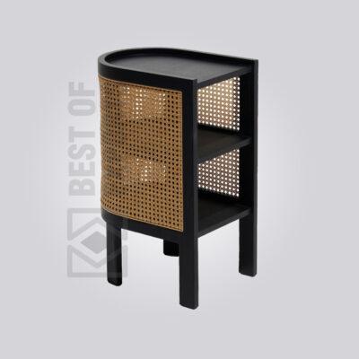 Black Cane Side Table