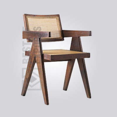 Wooden Cane Back Armchair