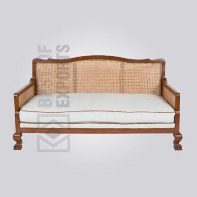 Cane Back Wooden Sofa