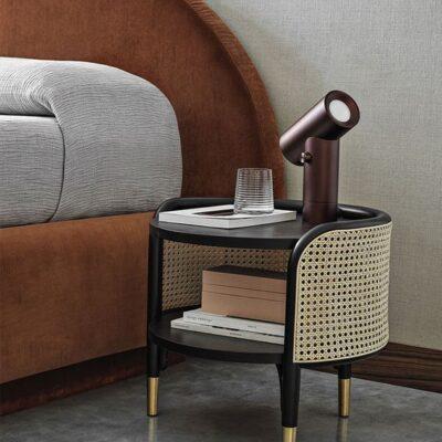 Cane Bedside Table