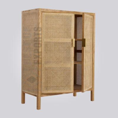 Cane Door Cabinet
