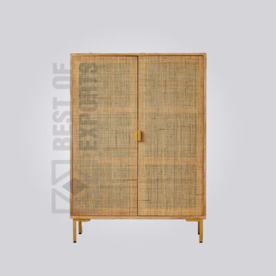 Cane Front Cabinet