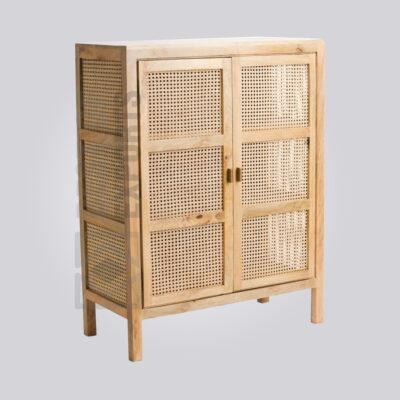 Cane Kitchen Cabinet