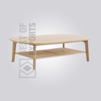 Cane Oval Coffee Table