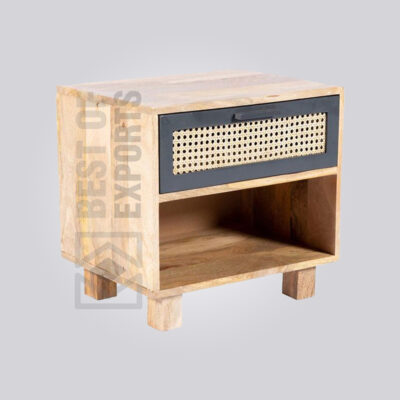 Cane Rattan Bedside Table