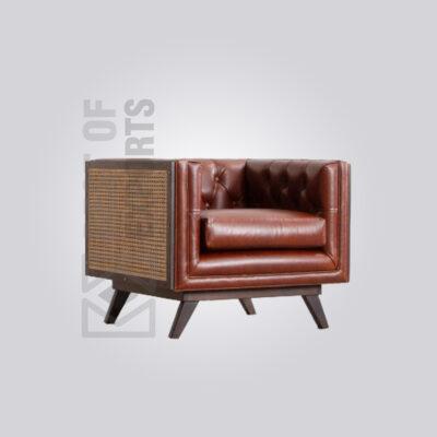 Cane Sofa Set - Single Seater