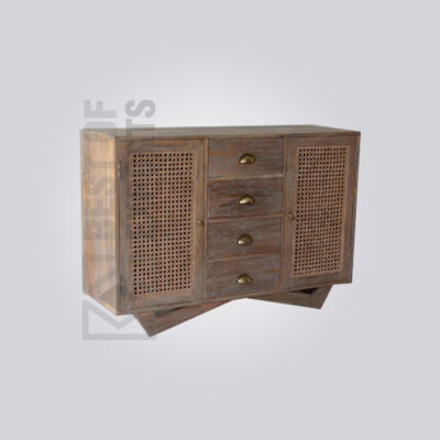 Cane Storage Cabinet with Drawer