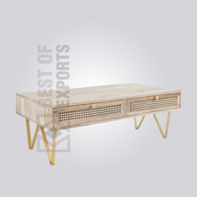 Cane Storage Coffee Table