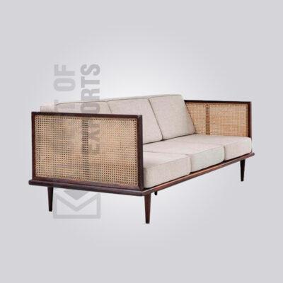 Caned Sofa Set - 3 Seater