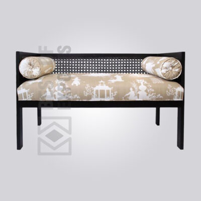 Modern Black Cane Bench