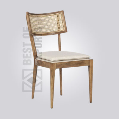 Rattan Backed Dining Chair