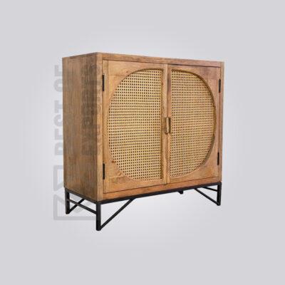 Stylish Wooden Cane Cabinet