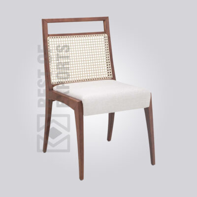 Upholstered Cane Dining Chair