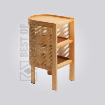 Wood and Cane Side Table