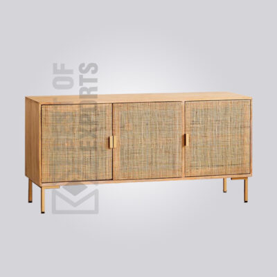 Wooden Cane Sideboard