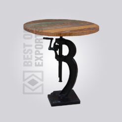Adjustable Round Dining Table - Reclaimed