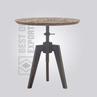 Adjustable Wooden Top Dining Table - Distressed
