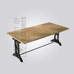 Cast Iron Rustic Top Dining Table