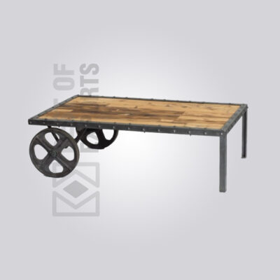 Distressed Industrial Cart Coffee Table