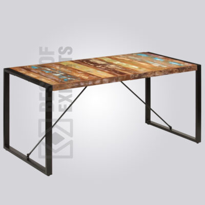 Industrial 6 Seater Dining Table - Reclaimed