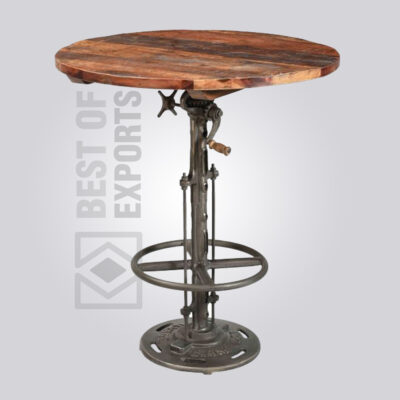 Industrial Adjustable Height Crank Table