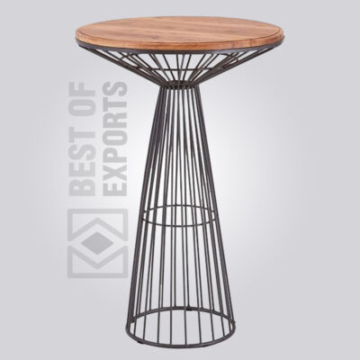 Industrial Bar Height Wire Table