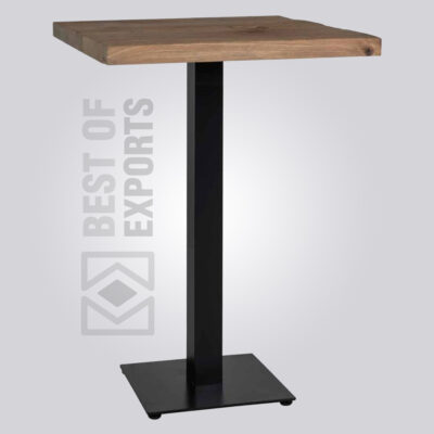 Industrial Counter Height Pedestal Table