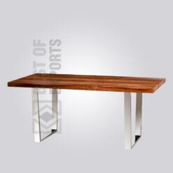 Industrial Dining Table - Nickel Finish