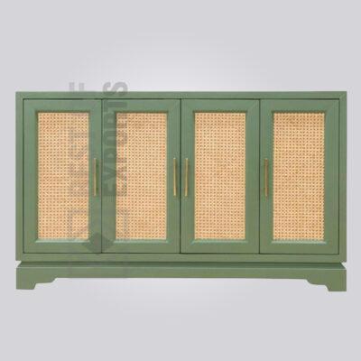 Light Green Rattan Sideboard