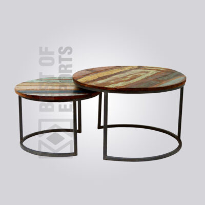 Reclaimed Industrial Coffee Table - Set of 2