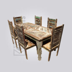 Reclaimed Wood 6 Seater Dining Set