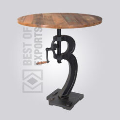Round Crank Dining Table - Reclaimed