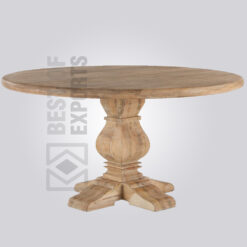 Solid Wood Rustic Round Dining Table