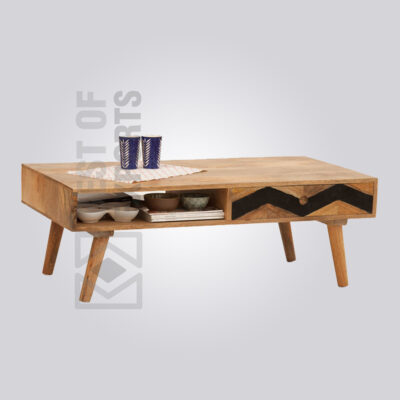 Solid Wood Storage Coffee Table