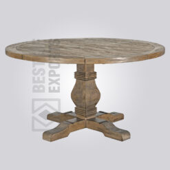 Solid Wood Vintage Round Dining Table