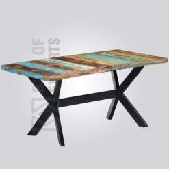 Square Dining Table - Reclaimed Finish