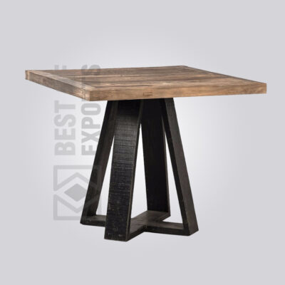 Square Wooden Dining Table - Rustic